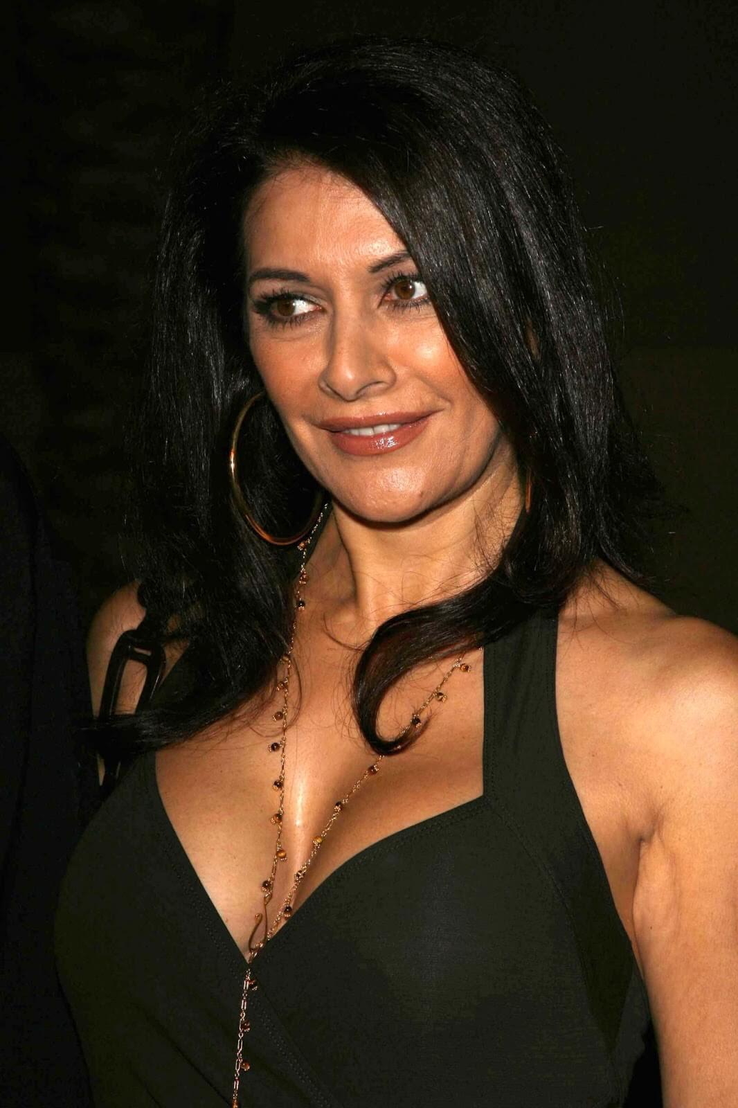 Marina Sirtis hot cleavage