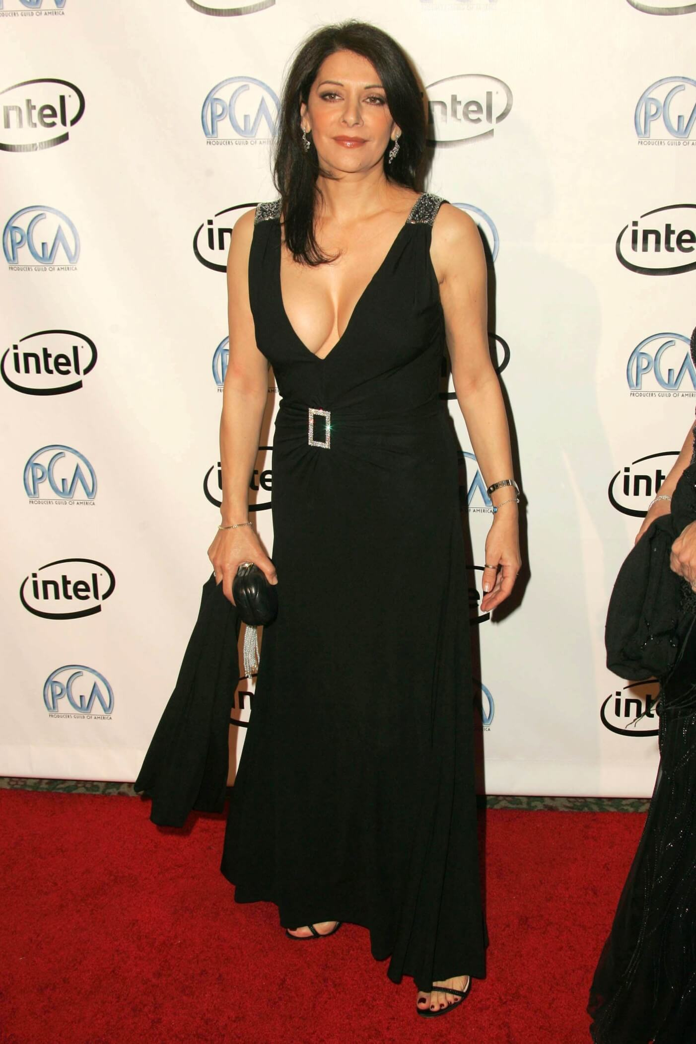 Marina Sirtis long black dress pic