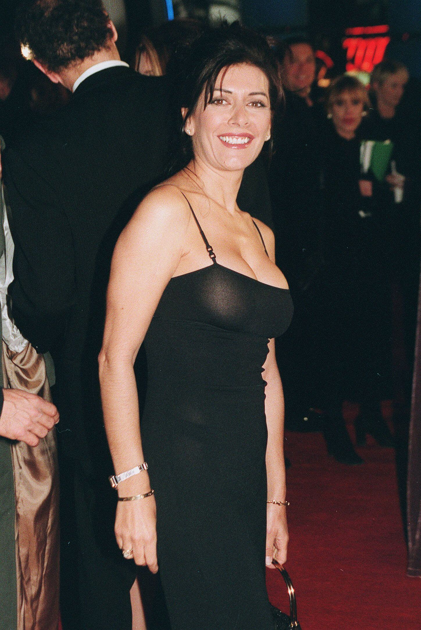 Marina Sirtis sexy black dress pic