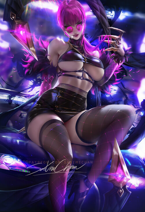 Masquerade Evelynn hot boobs