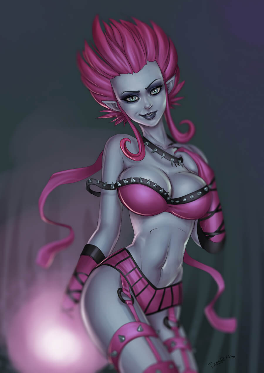 Masquerade Evelynn hot busty picture