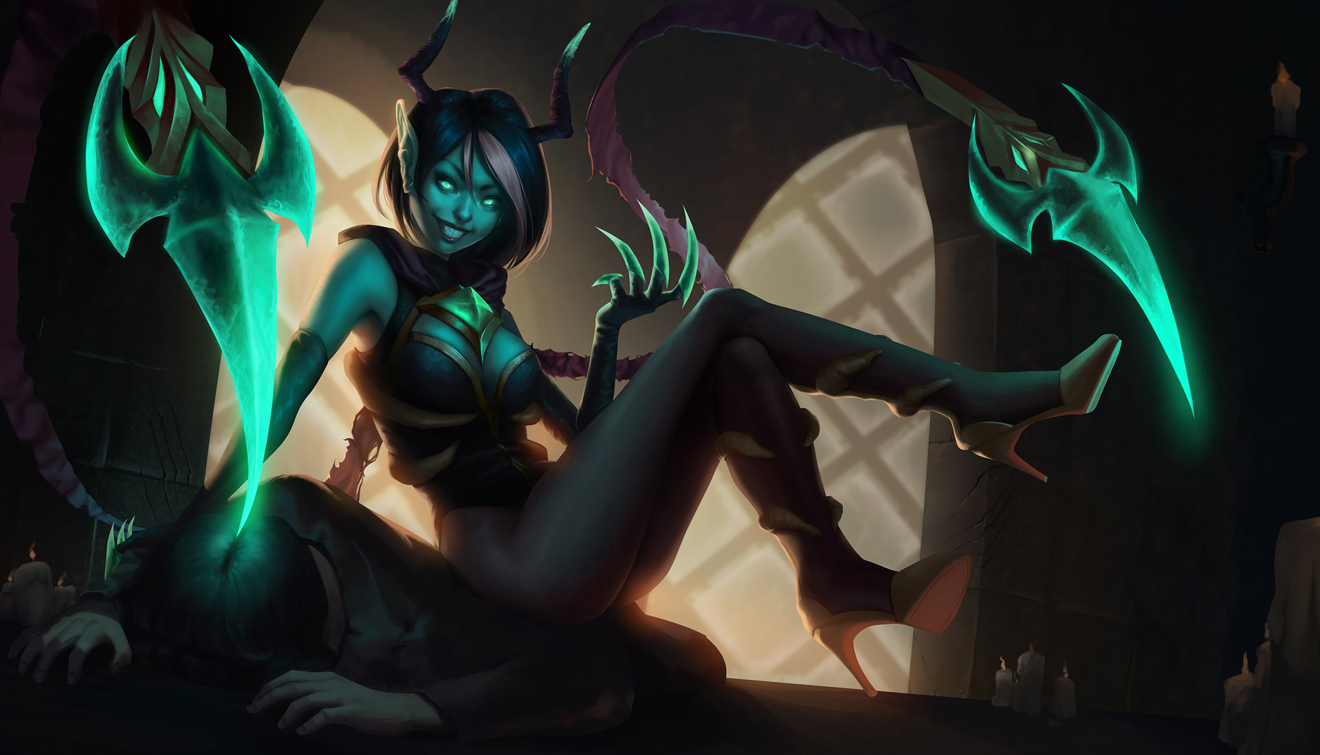Masquerade Evelynn hot leg