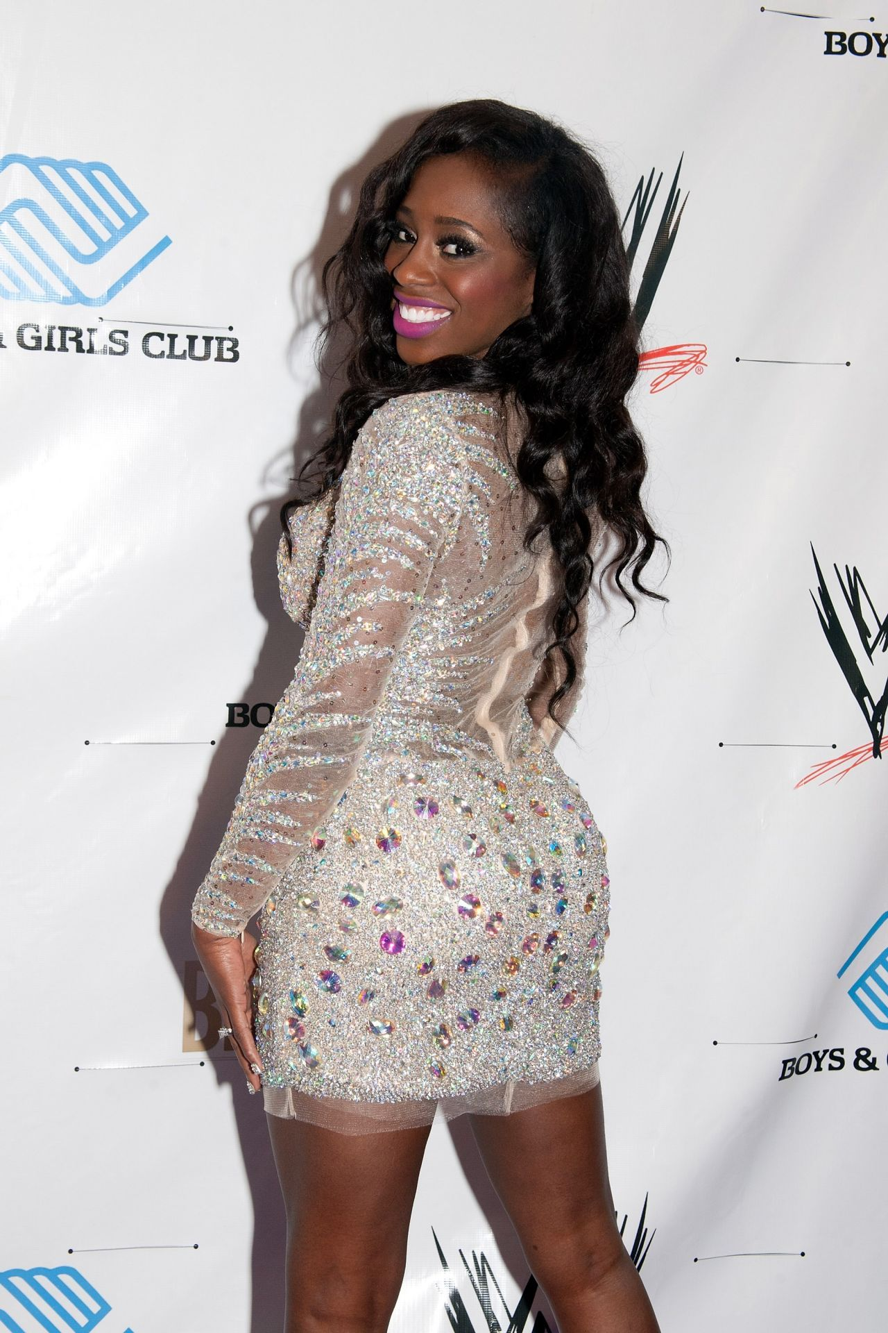 Naomi Hot in Short Dress