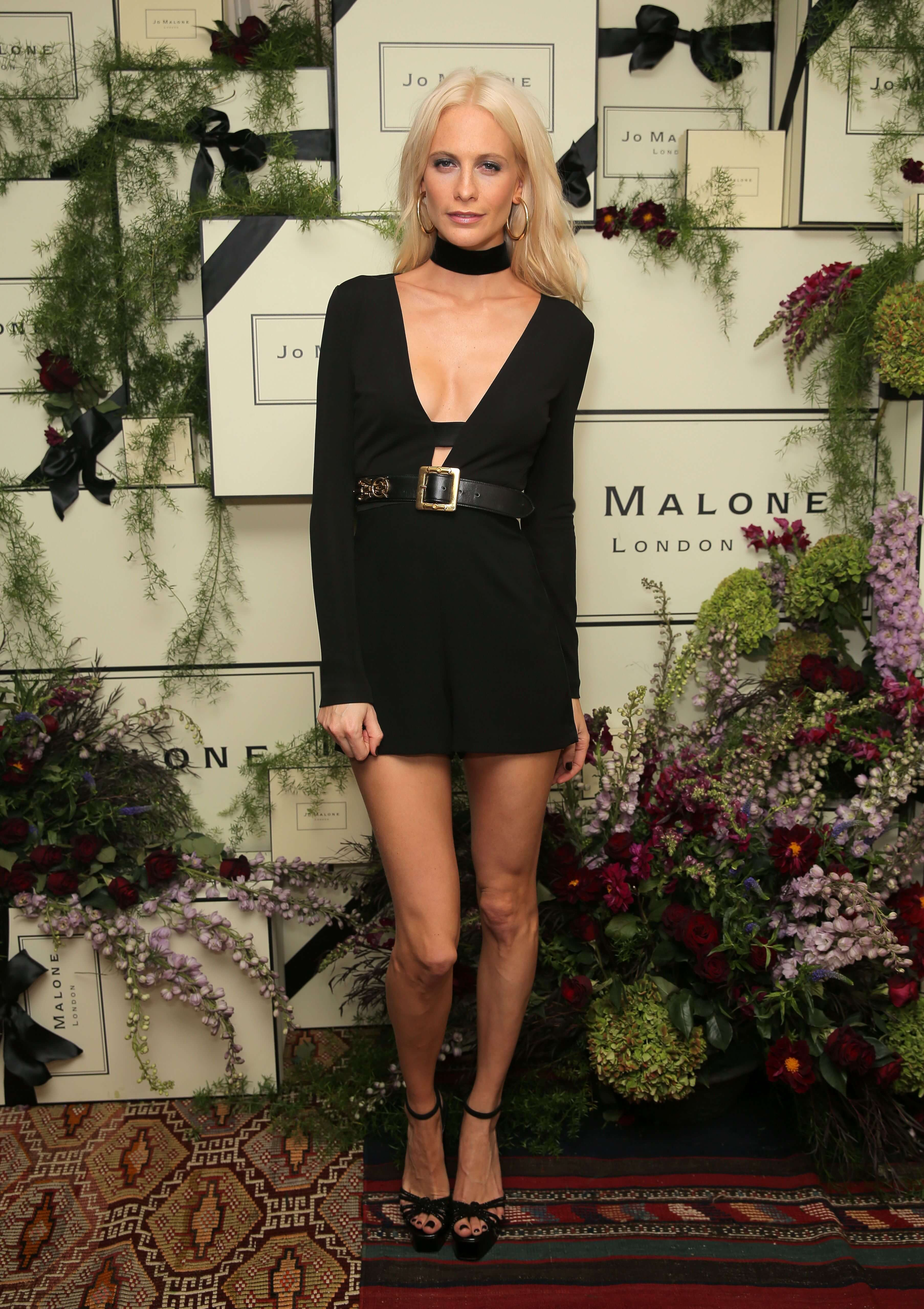Poppy Delevingne black tite dress pic