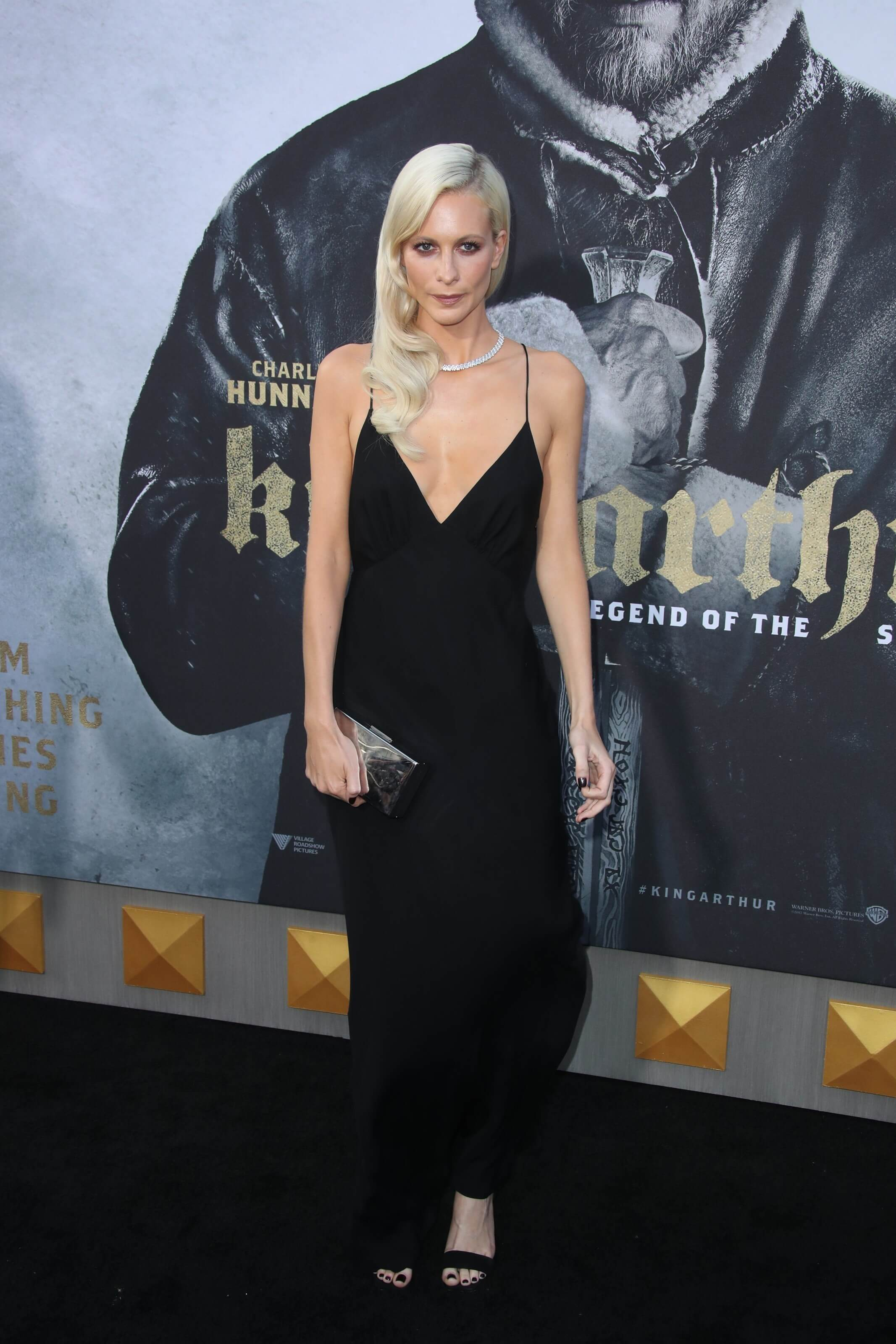 Poppy Delevingne long black dress pic