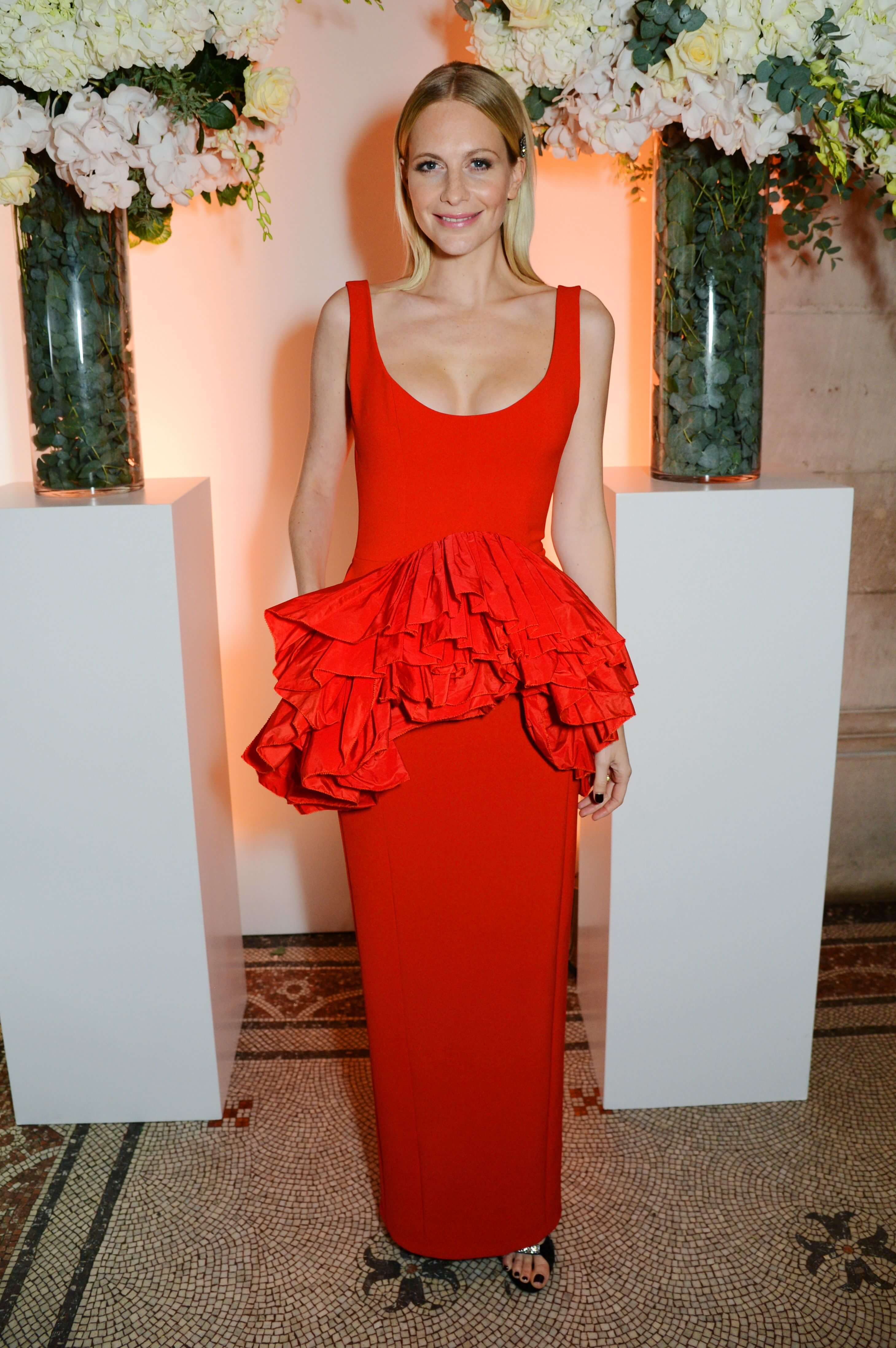 Poppy Delevingne red hot look