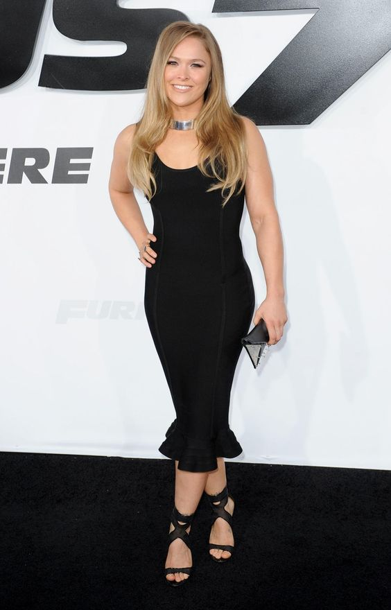 Ronda Rousey Hot in Black Dress