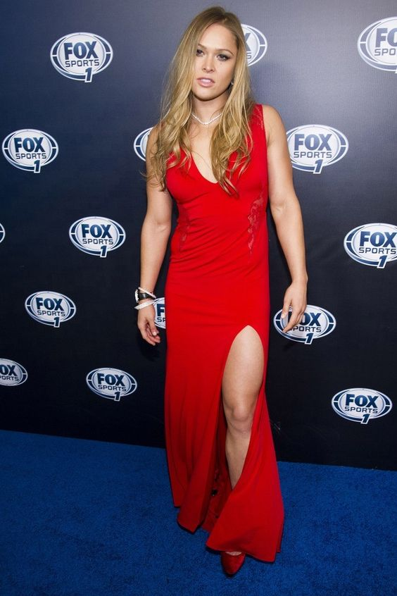 Ronda Rousey hot in Red Dress