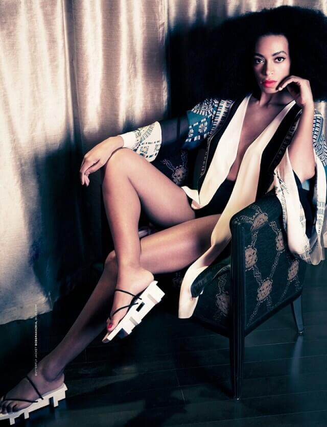 Solange Knowles sexy thigh