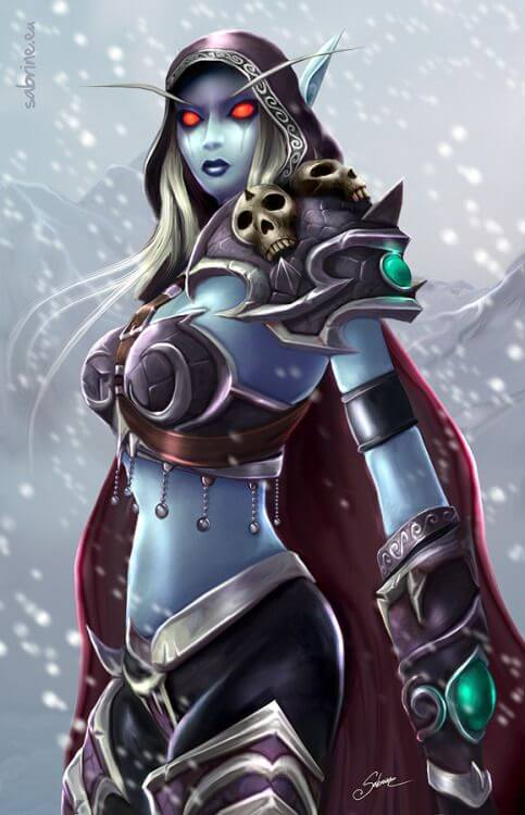 Sylvanas beautiful cleavages