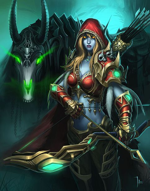 Sylvanas red awesome dress