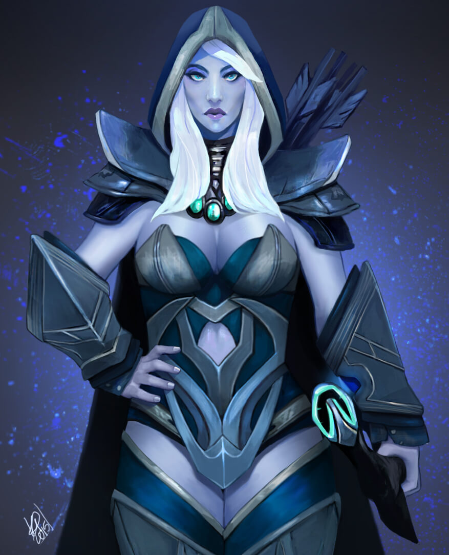 Traxex the Drow Ranger awesome pic