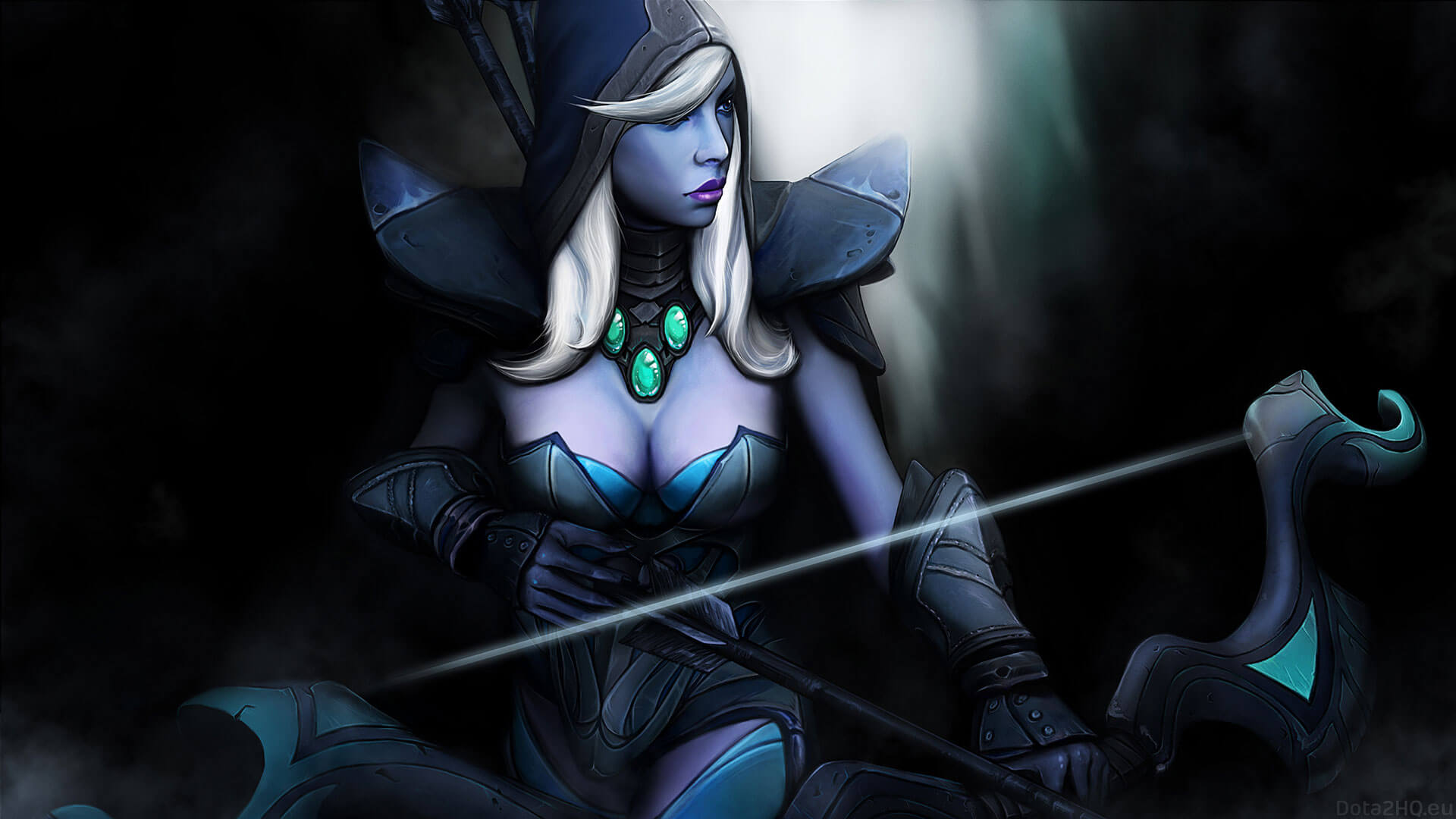 Traxex the Drow Ranger cleavage pic