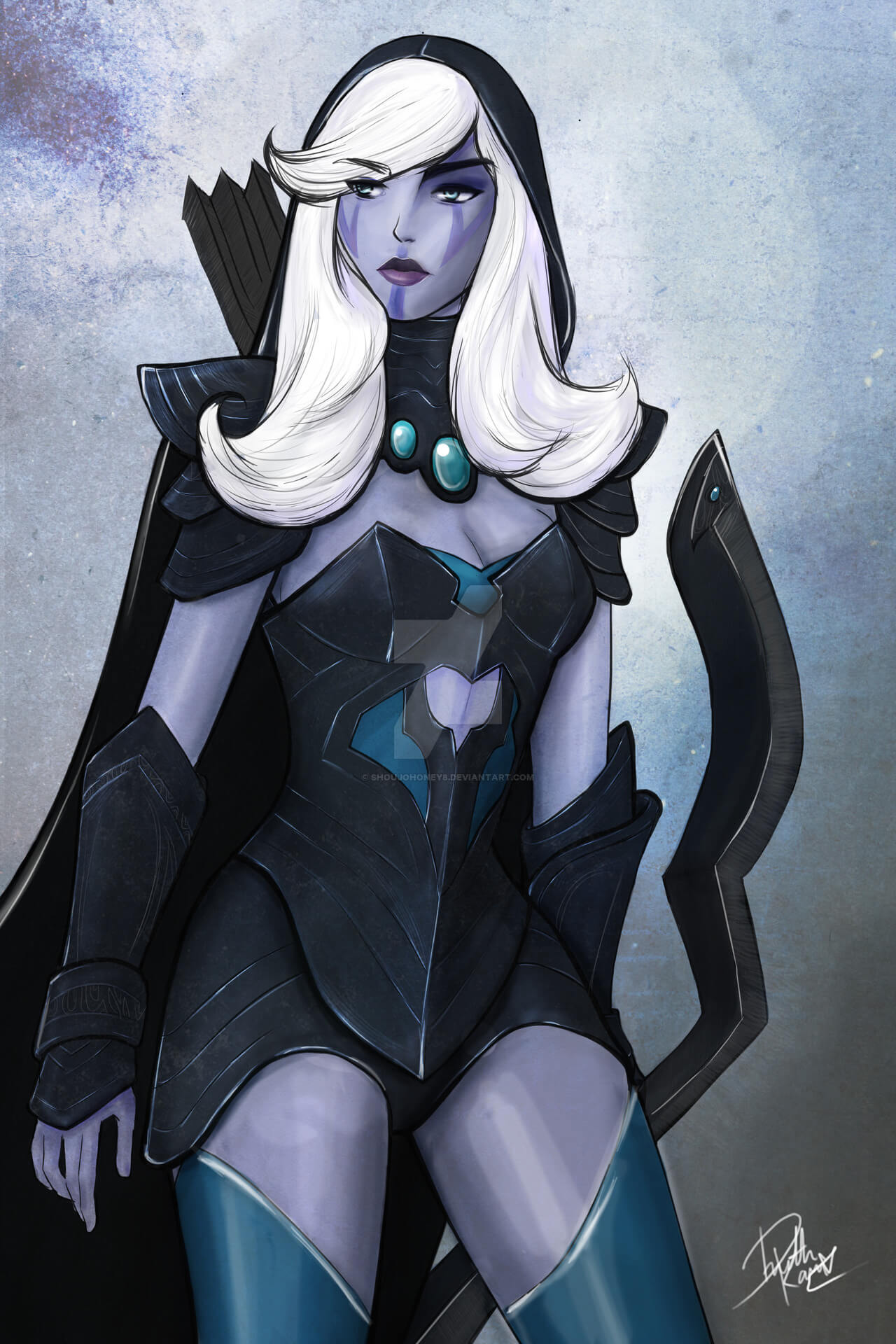 Traxex the Drow Ranger hot look pic (2)