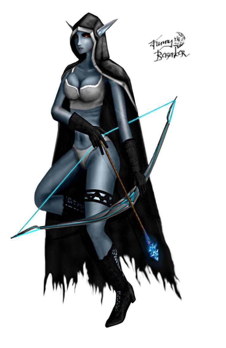 Traxex the Drow Ranger hot look pic
