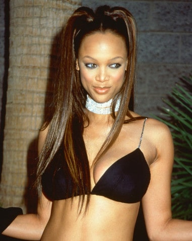 Tyra Banks Hot in Black Bikini
