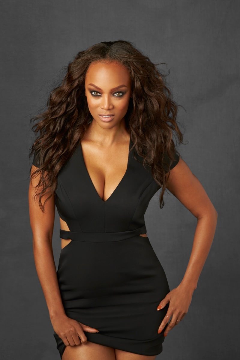 Tyra Banks Hot in Black Dress