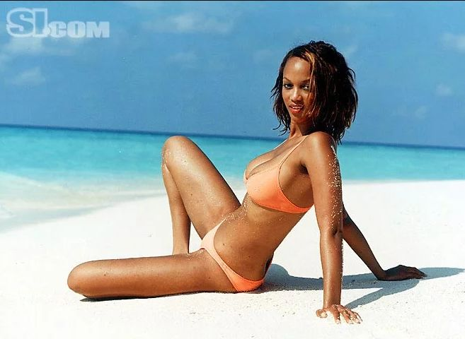 Tyra Banks on Beach