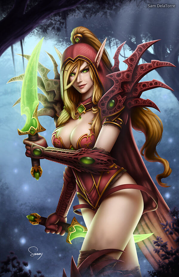 Valeera cleavages hot