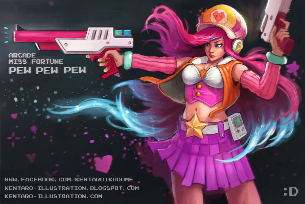 arcade miss fortune fanart by kentyan