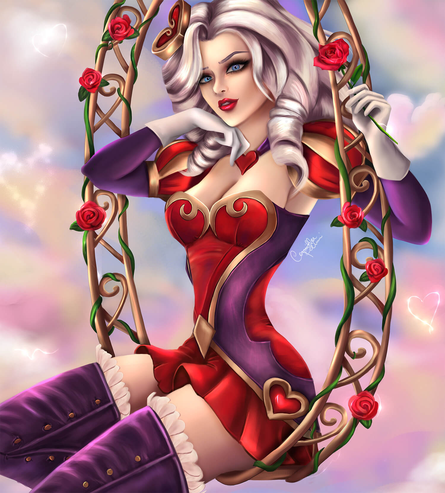 heartseeker ashe blue eyes