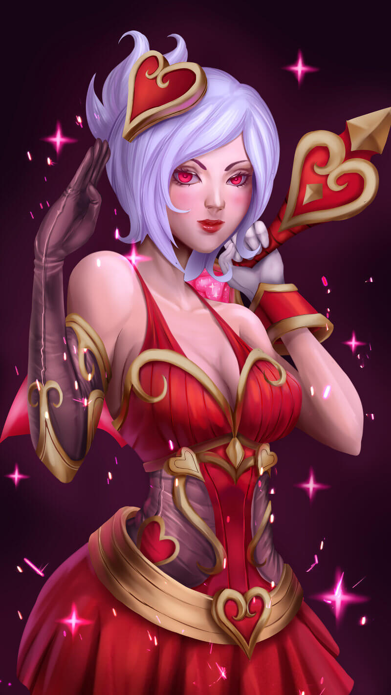 heartseeker ashe red eyes