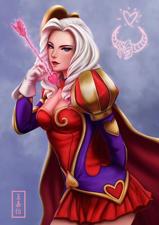 heartseeker ashe white hair