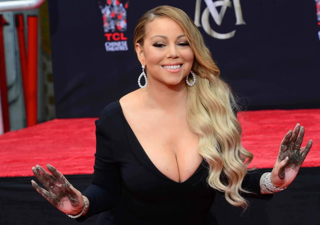 mariah carey blonde hair