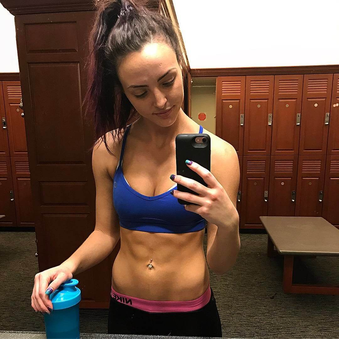 peyton royce with drink