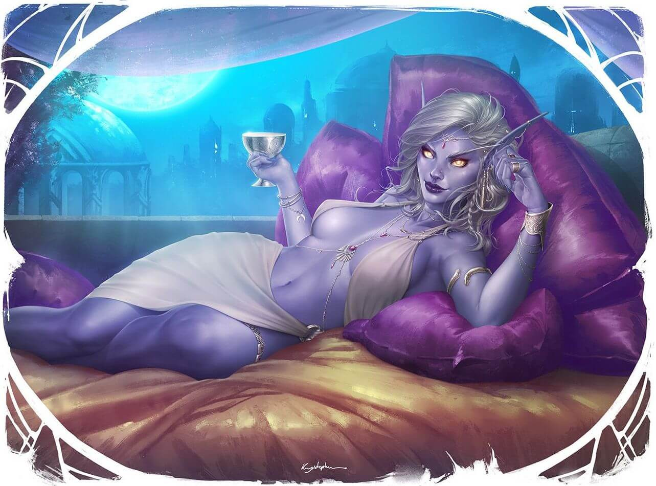 queen azshara on the bed