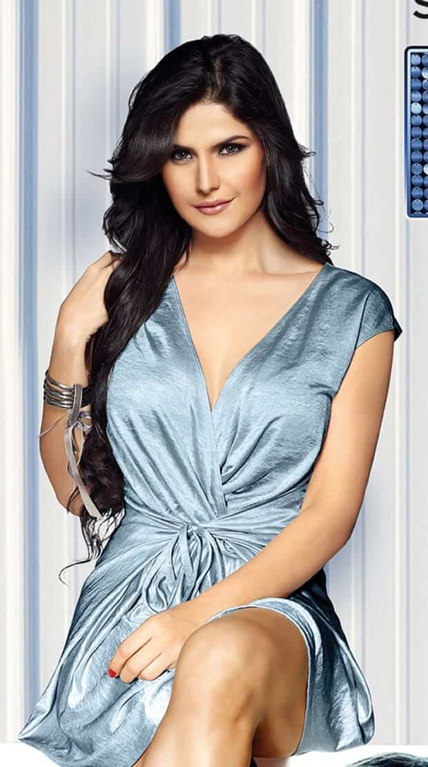 zareen khan sexy cleavages pciture