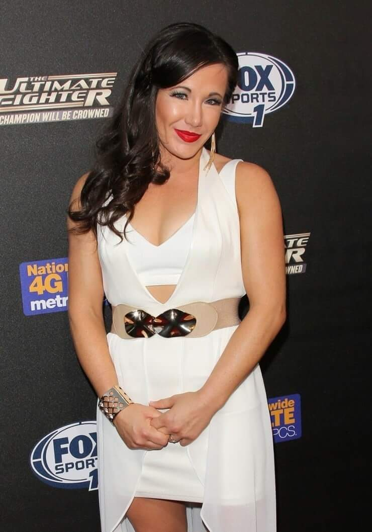 Angela Magana sexy white dress