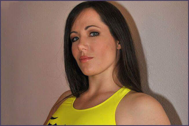 Angela Magana sexy yellow dress