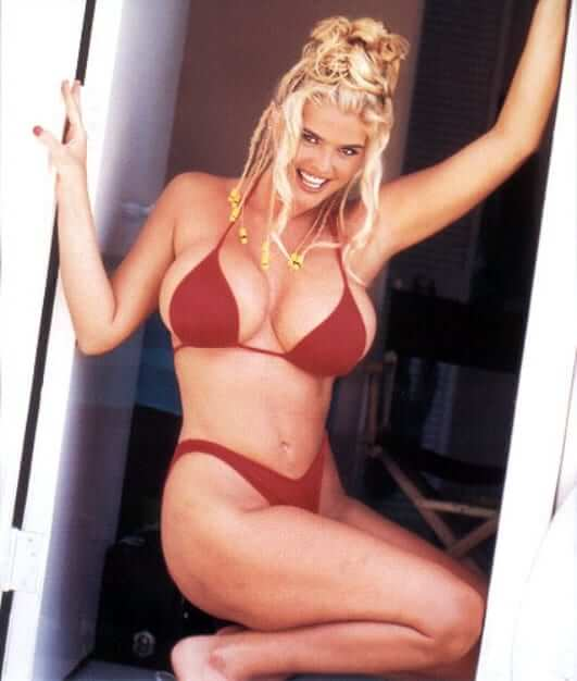 Anna Nicole Smith red bikini