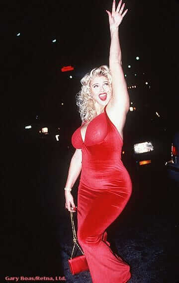 Anna Nicole Smith red