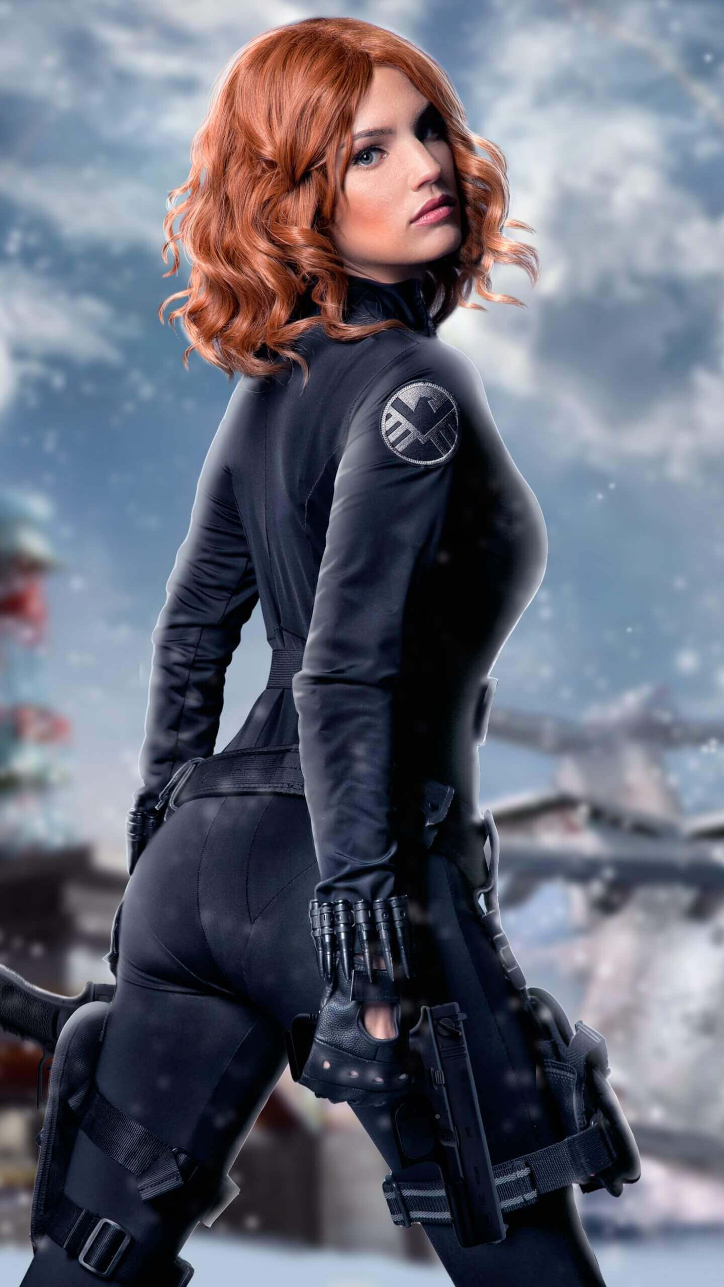 Black Widow ass pics