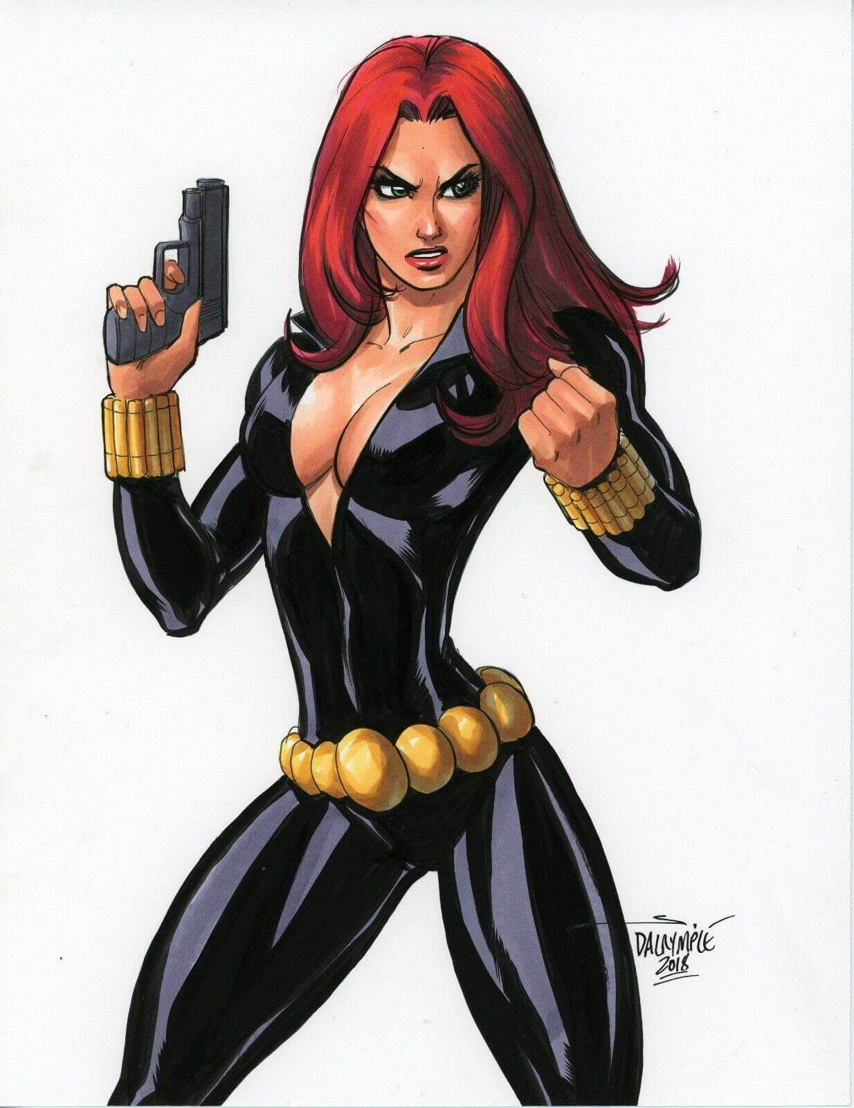Black Widow cleavage photo (2)
