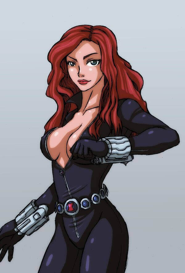 Black Widow cleavage photo (4)