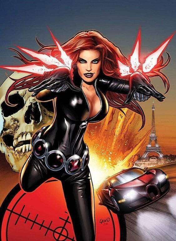 Black Widow hot cleavage pics