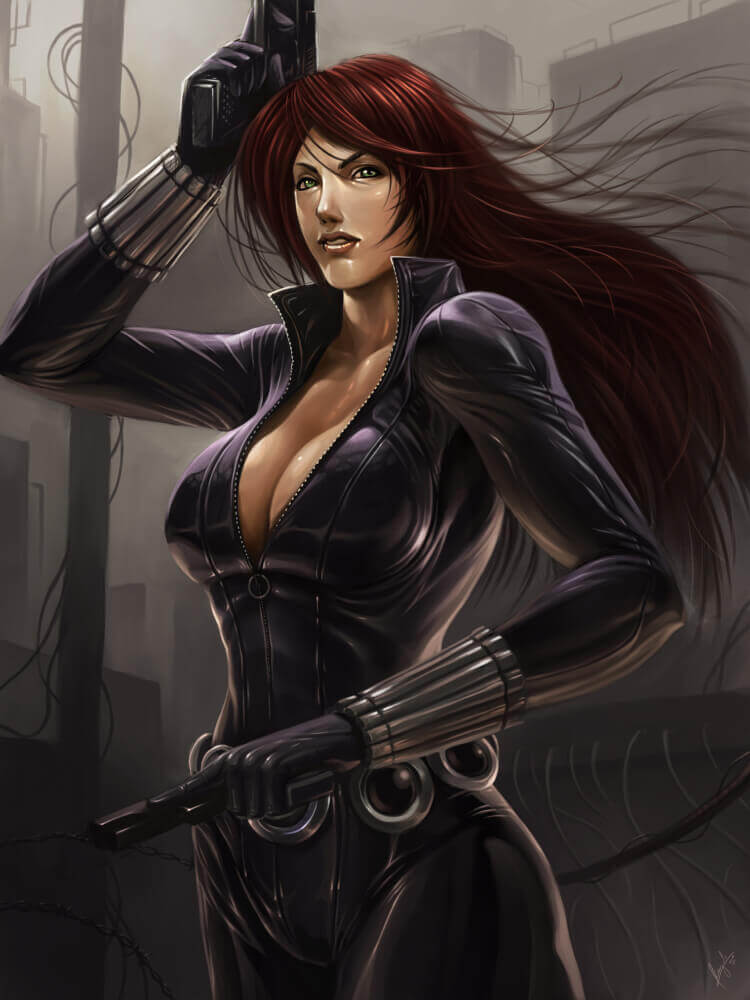 Black Widow hot cleavage