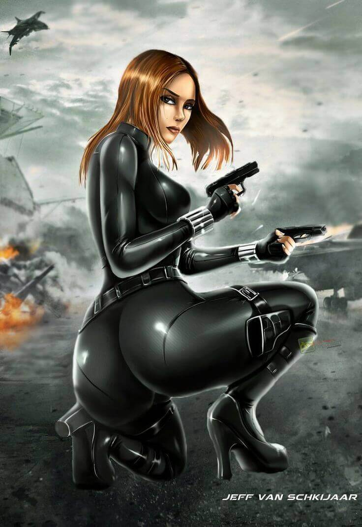 Black Widow sexy ass pic