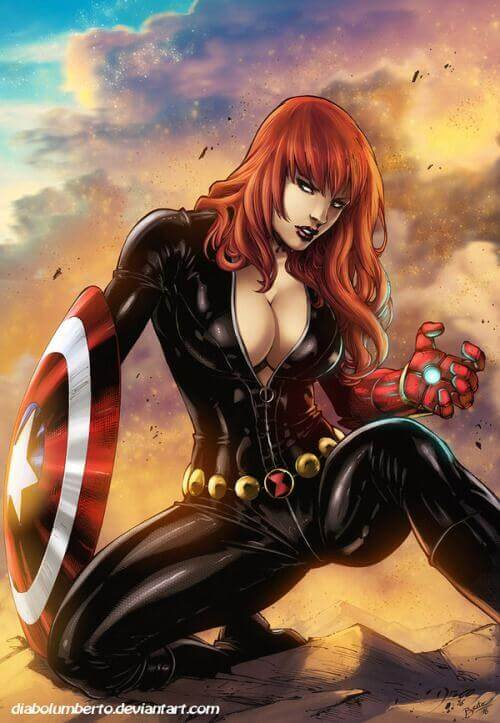 Black Widow sexy cleavage