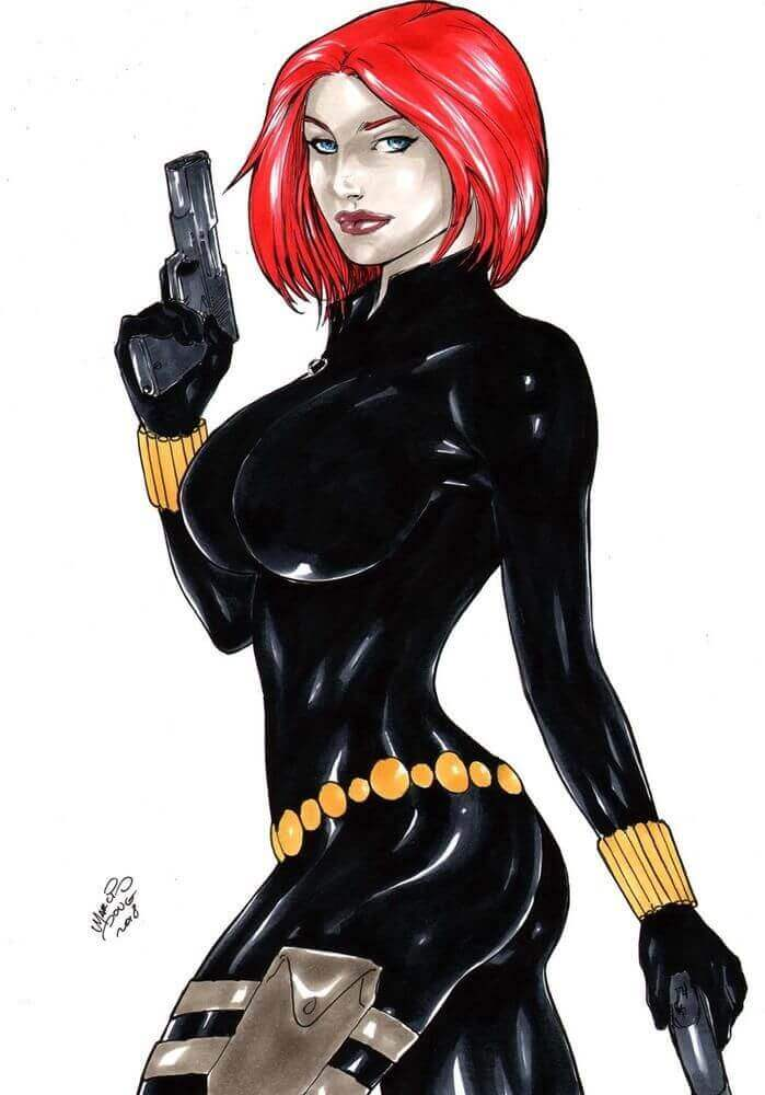 Black Widow sexy side look
