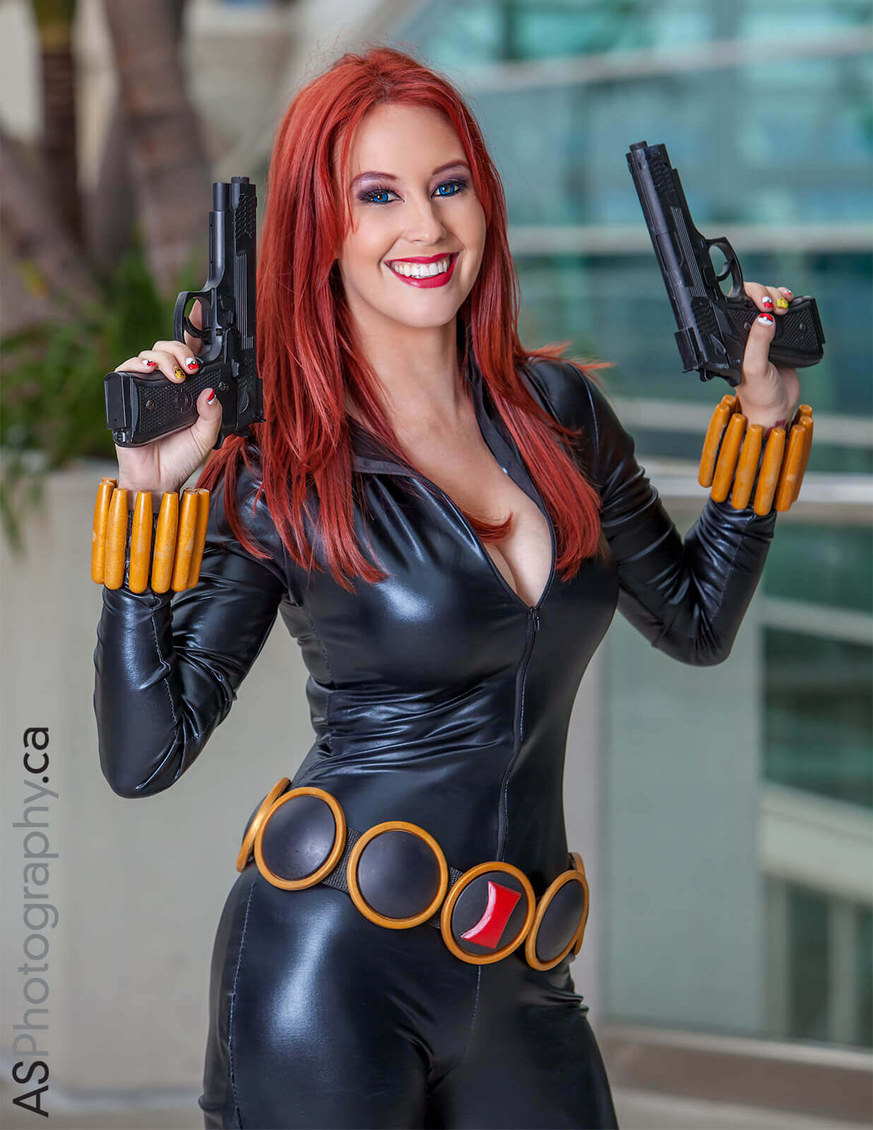 Black Widow smile pic