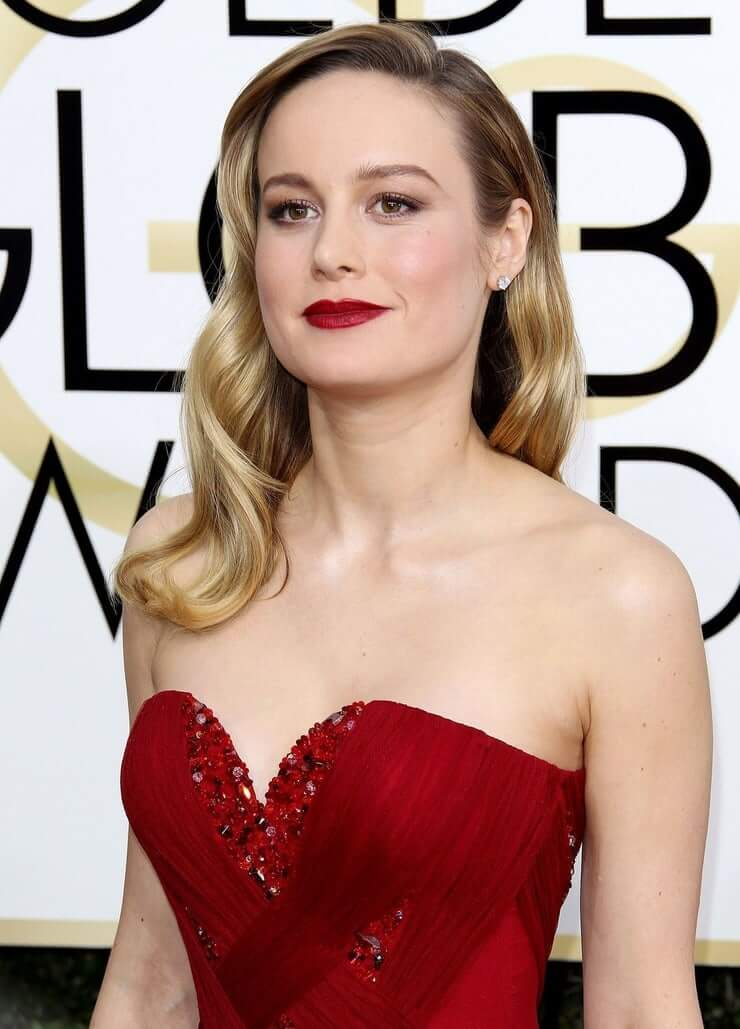 Brie Larson Red Lips