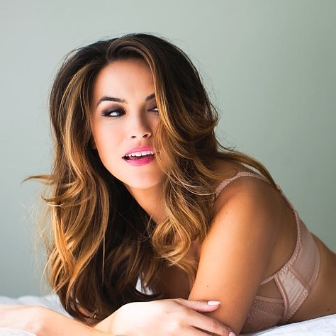 Chrishell Stause on Bed