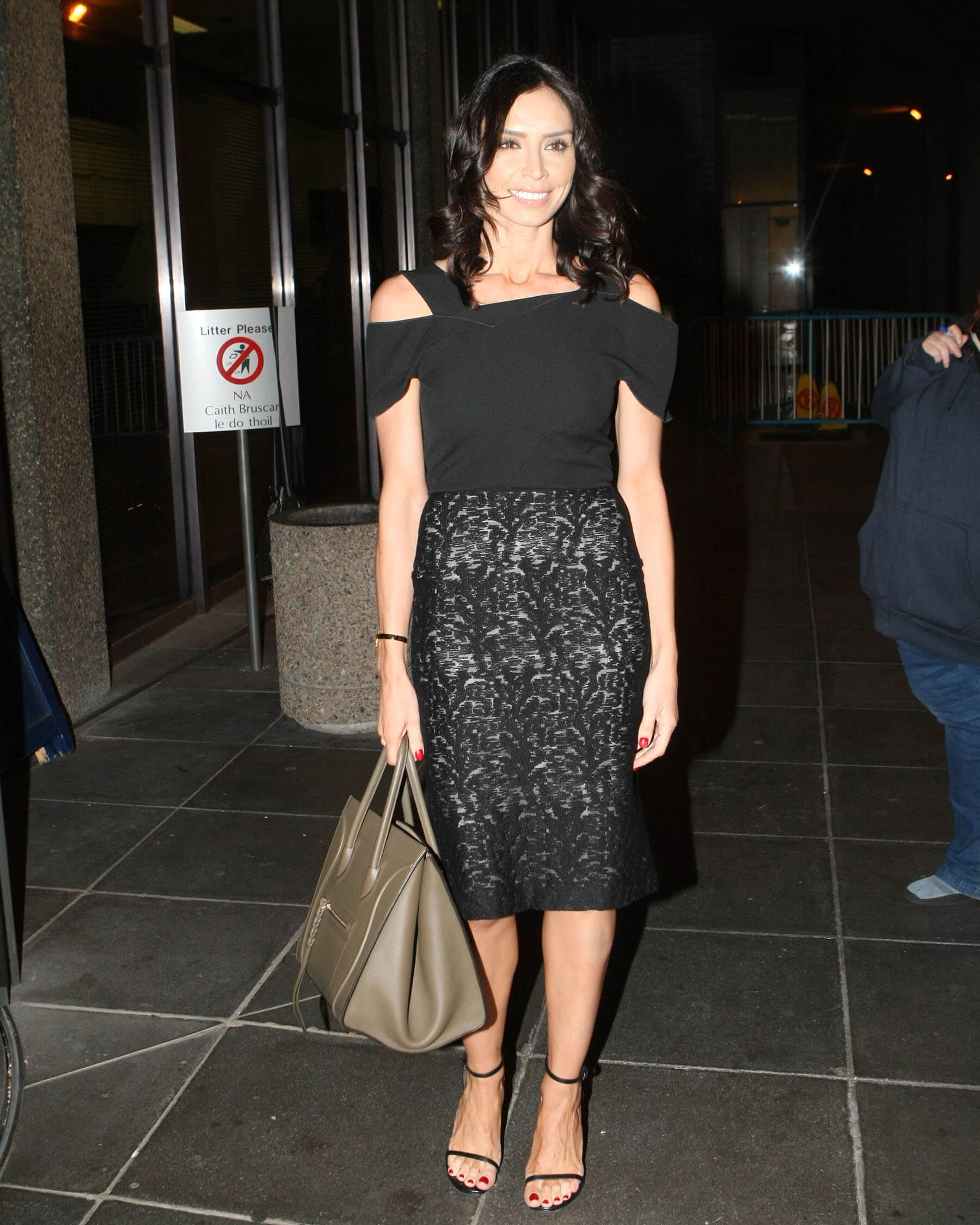 Christine Lampard awesome black dress