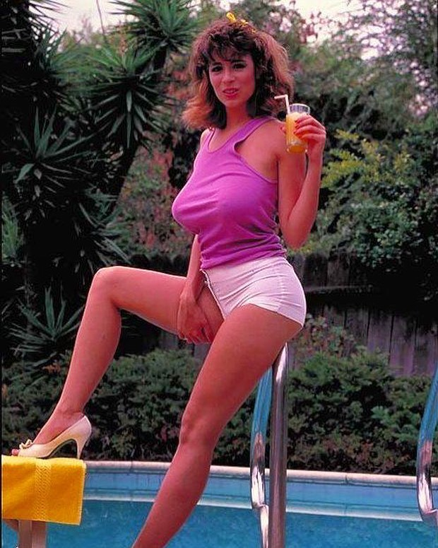 Christy Canyon on Swimming Pool