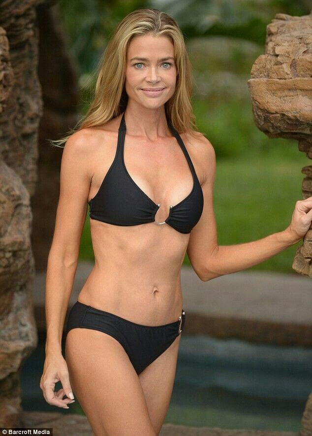 Denise richards Hot in Black Bikini