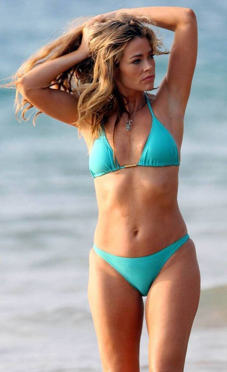 Denise richards Hot in Blue Bikini